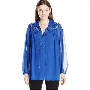 Adrianna Papell Woman Pleated Blouse